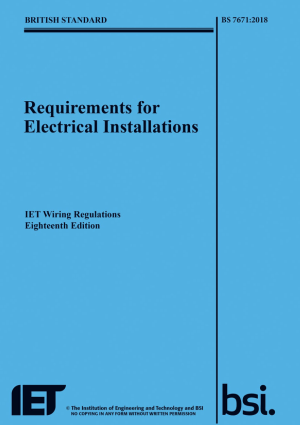 BS 7671:2018 Electrical Wiring Regulations 18th Edition with XS Training